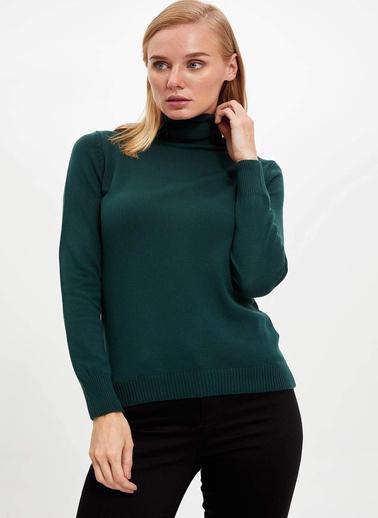 DeFacto Boğazlı Kazak Yeşil